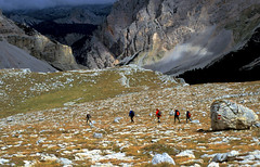 Fanes Dolomites (Bev and Steve) Tags: italy mountains wow italia hiking velvia dolomites dolomiti 012 fanes