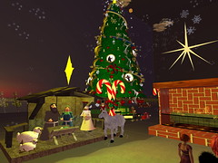 Second Life BB 04 (Gary Hayes) Tags: secondlife bigbrother housemates xmastree challenges endemol muve environmentdesign virtualrealitytv tvformat