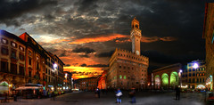 Firenze, Piazza de la Signoria (Batistini Gaston) Tags: italy panorama beautiful picture panoramic firenze photoshoped hdr batistini perfectpanoramas abigfave