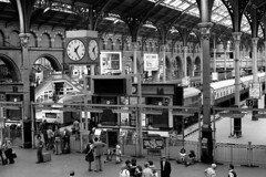 London Liverpool St 25th July 1976 (loose_grip_99) Tags: uk railroad england london station train blackwhite br diesel noiretblanc transport rail railway trains historic railways 1976 liverpoolstreet ger britishrailways lner greateastern class47 class31 47172 clickcamera