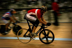 Warm Up (jkoshi) Tags: bicycle carson track fixedgear velodrome koshi jkoshi adtcenter homedepotcenter 2007uciworldcup