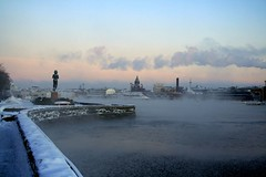 Helsinki harbour on a cold morning (Fredww) Tags: winter sea mist cold ice finland helsinki