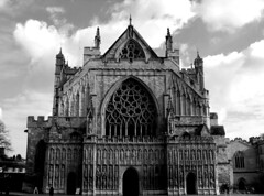 exeter cathedral (rakelilla/robin) Tags: uk england bw religion catedral bn exeter cathdral inglatera
