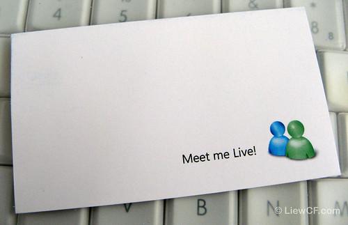 Windows Live Messenger Name Card (back)