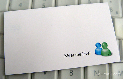 Windows Live Messenger Name Card (back) by liewcf.