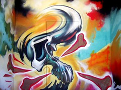 Skull Pompadour (See El Photo) Tags: street door 15fav streetart hot art colors 510fav 100v skull graffiti cool nice colorful paint santamonica great 10f awsome explore 100views greatshot 400views 300views spraypaint pompadour 500views 3f 800views 600views 700views 1000views 4f 1f faved 5f 2f 333v3f 222v2f 444v4f 111v1f 2000views 5000views 1015favs 6000views seeelphoto explore420 chrislaskaris