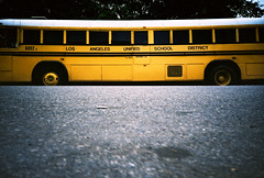 LA school bus (lomokev) Tags: california road school venice bus yellow la losangeles lomo lca xpro lomography crossprocessed xprocess low ground lomolca schoolbus agfa jessops100asaslidefilm agfaprecisa yellowbus lomograph agfaprecisa100 cruzando precisa ratseyeview jessopsslidefilm fileday05r4r2e077ps