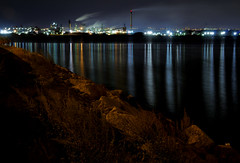 Dofasco and Stelco (gallow_chris) Tags: longexposure ontario canada color colour reflection industry nature water beauty night lights nikon long exposure industrial steel hamilton d2x gallow chrisgallow defasco nikoncapturenx hamitonbay chrisgallow allrightsarereserved