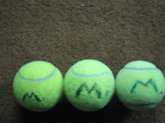 m not w (falldownquick) Tags: m tennisballs
