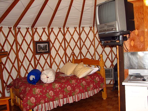 Inside of the Yurt