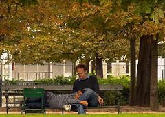 Autumn Lovers (dariuszka) Tags: park travel autumn people man paris france cute love warm sweet lovers tender loveisintheair