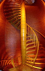 Stairway to Heaven (nouQraz) Tags: red orange lighthouse yellow stairs spiral newjersey nikon stair d70s nj wideangle nikond70s stairway fisheye lbi longbeachisland staircase jersey helix nikkor barnegat oceancounty barnegatlighthouse spiralstaircase stairwaytoheaven spiralstairway 105mmf28gfisheye barnegatbay barnegatinlet nikonstunninggallery