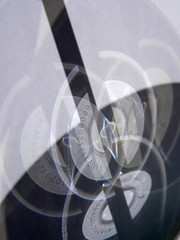 THREE ELEMENTS IV: A4 + CD + PENCIL (juanluisgx) Tags: shadow abstract pencil spain cd lapiz sombra leon a4 abstracto folio caustics elalbeitar utatathursdaywalk28