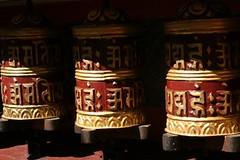 Gebedsmolens in swayambhunath