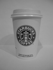 Starbucks Cup (Ryan Hadley) Tags: seattle blackandwhite bw usa macro cup coffee washington starbucks latte psl starbuckscup pumpkinspicelatte