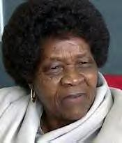 Mrs. Albertina Sisulu, Former Leader of the ANC Women's League by panafnewswire