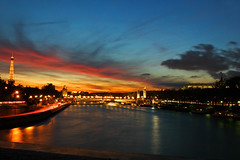 (*Secretgarden) Tags: bridge sunset paris france tower seine wow river interesting colorful tour ken kitsch eiffel 1800 colourful alexandreiii  alexanderiii notsobad  291006