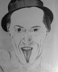 for Halloween;an appalling amount of tongue ! (fantail media) Tags: portrait hairy halloween tongue drawing christopher drawings fantail yeahitsactuallythatlong