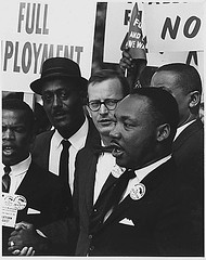 Martin Luther King at 1967 march on Washing
