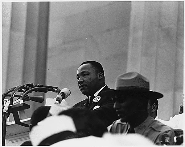 Public Domain: Dr. Martin Luther King, jr. at 1963 March on Washington by USIA (NARA)