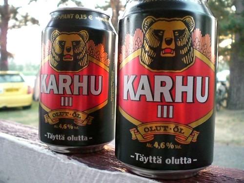 Las cervezas finlandesas estan... malas, coñe.