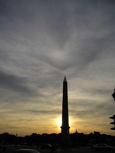 Obelisco al atardecer