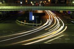 Lesson1_061101_005 (haribote) Tags: longexposure japan geotagged tokyo nightshot snapshot nightscene crossroad 30d longtimeexposure laserlight carlight geolat3574919 geolon1396186158 kanpachiyaharacrossroad
