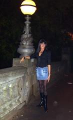 Bridge over troubled water. (Melanie_cduk) Tags: tv cd tights crossdressing tranny transvestite pantyhose crossdresser ts miniskirts