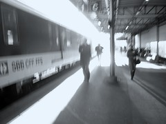 an unexpected light (overthemoon) Tags: bw station altered switzerland blurry picasa accidental unexpected vevey imperfectlyperfect spseeingthelight 1j1t