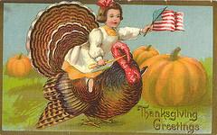 Thanksgiving - Girl on Turkey