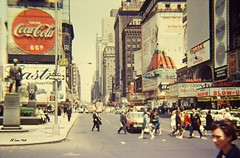 Duffy Square 1967 (Videoal) Tags: city people signs traffic 1967 manhatten theatres