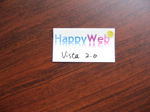 When Vista meet HappyWeb