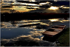 Lake of Clouds 2 (Cpt<HUN>) Tags: light sunset sky cloud lake color art water dark landscape boat nice mood quality shore hun cpt metaphore dvornik