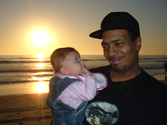 Got My Eye On You (SesMan) Tags: ocean sunset beach sand grandfather granddaughter oceanside daddio shyanne stephensmith sesgirl sesdad shyannesmith stephensmithsr