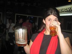 George + Beer = Trouble! (amytheblue) Tags: bigwhite