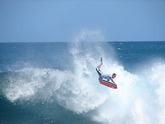Flying Bodyboarder at Pipeline (Kevin & Kathy) Tags: ocean water hawaii waves oahu coolest bodyboarder flickrgolfclub