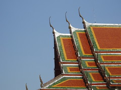 Fancy Roof (revs 83) Tags: roof skyline architecture thailand temple bangkok buddhist profile palace tiles grandpalace ornamental eaves