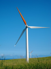 Wind power generators seem now to be a symbol for green business