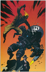 Mignola Rocketeer (soldierant) Tags: illustration awesome snagged mignola rocketeer nazideathmachine