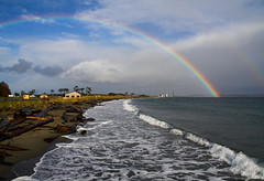 Rainbow(s) Over Point Wilson (Bev and Steve) Tags: lighthouse port wow point washington rainbow fort sound getty wilson accept townsend puget submit worden myexplore flickrgold nov060401