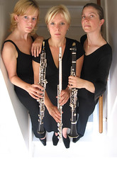 Treble wind trio (Enno de Kroon) Tags: music holland topf25 topv2222 stairs wind contemporary topv1111 perspective nederland flute topc100 classical instruments topv3333 ensemble nederlands chambermusic topview oboe clarinet composers kroon enno c100 2000views windinstruments topvaa inspiredbylove i500 kammermusik dutchmusic ennodekroon anawesomeshot modernclassicalmusic ysplix kamermuziek portraitonstairs lisettevandenbroek sandrazoer