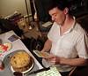 Ryan grins at Frank's card (Sara Kelly Johns) Tags: birthday family carpeicthus ryanbrenizer flickr:user=carpeicthus