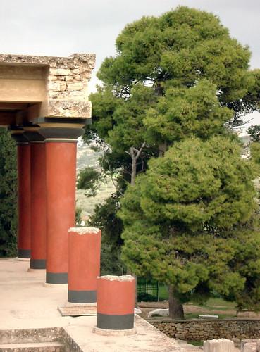 columna del Palacio de Knosos
