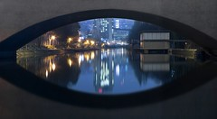 iBridge (ManImMac) Tags: longexposure eye water night river mirror schweiz switzerland nikon wasser suisse d70 nacht zurich d70s zrich fluss zuerich spiegelung auge kornhaus langzeitbelichtung limmat letten anawesomeshot