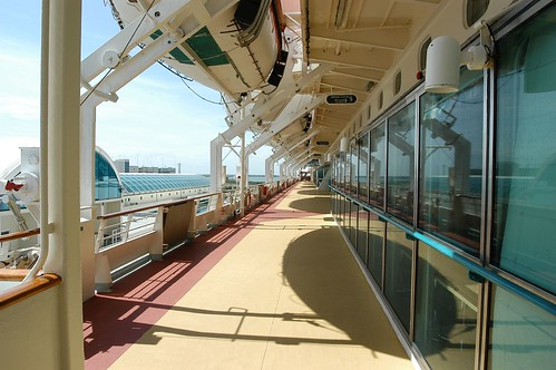 Running Deck On The Cruise Ship
