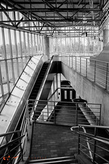 south station-27 (alanschererphotographer) Tags: boston redline train southstation excalator stairs travel transportation alanschererphotographer subway bostonphotographer blackandwhite people reallife truestory