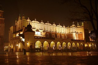 Cloth Hall in the night
