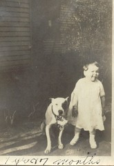 Baby (1 yr & 7 months) & Dog (Cowtools) Tags: dog oldphotos interestingness461 i500 vintagepittsburgh
