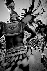 TRIBU 11 (Peter_O'Driscoll) Tags: travel bw black film festival canon asia native philippines tribal peter warrior ati iloilo warpaint headdress tribu dinagyang odriscoll chromate atihan peterodriscoll negrite peterodriscollphotography philippinetribalheaddress