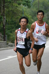 The China Coast Marathon(Finishing line)
